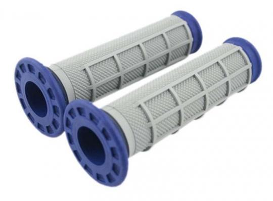 Picture of Renthal Handlebar Grips - ATV Type - Dual Compound-  Blue/Grey