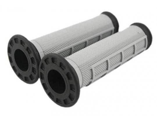 Picture of Renthal Handlebar Grips - ATV Type - Dual Compound-  Black/Grey