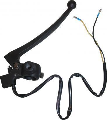 Picture of Universal Brake Lever Assembly Black Mirror boss and Switches