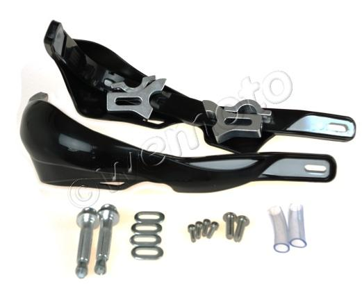 Picture of Hand Guards Wrap Round with Alloy Inserts Black for 22mm Handlebars