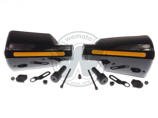 Picture of Hand Guards Wrap Round Black with Reflective Strip includes fittings