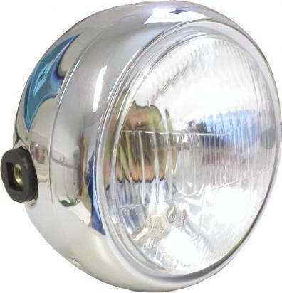 Picture of Headlight Complete Round Chrome 6 inch as fitted Suzuki GN125