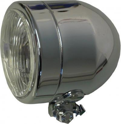 Picture of Headlight Custom Complete 4.5 Inch Chrome (E Marked) Bottom Mount