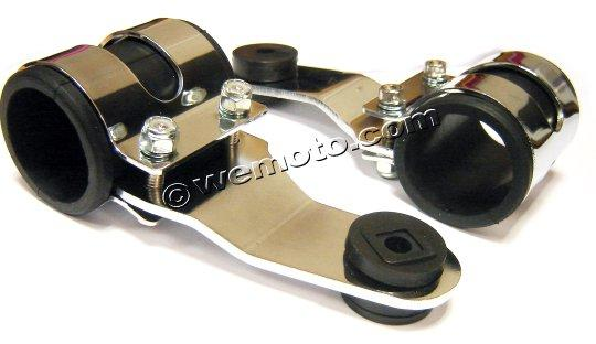 Picture of Headlight Mounting Brackets Chrome To Fit 37mm - 40mm Forks