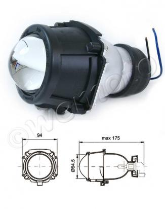 Picture of Front Light  Projector Type H3 12V 55W dipped beam