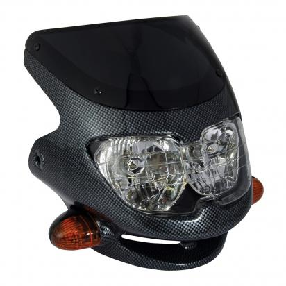 Picture of Dash Universal Sports Fairing Headlight - Carbon