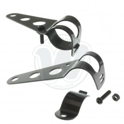 Picture of Headlight Mounting Brackets Black To Fit 26mm - 37mm Forks
