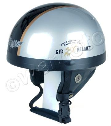 Picture of Helmet Classic Silver/Black XL (59-60) Non-homologated, Not Road Legal