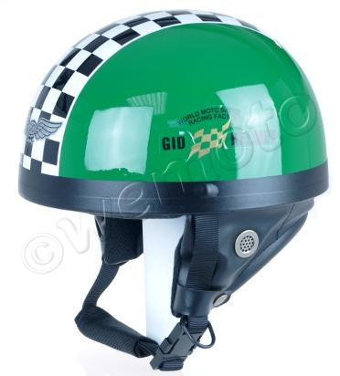 Helmet Classic Green L (57-58) Non-homologated, Not Road Legal