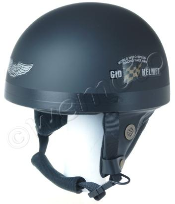Helmet Classic Matt Black L (57-58) Non-homologated, Not Road Legal