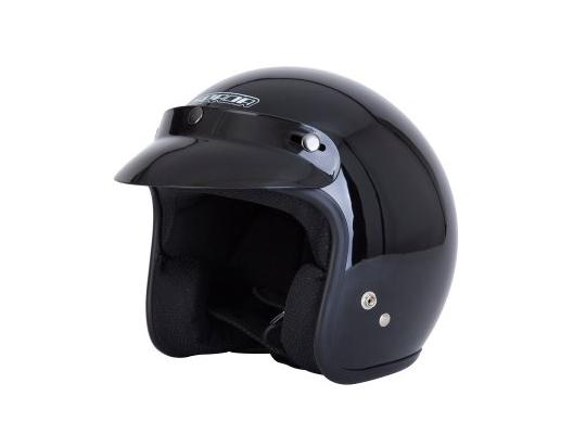 Picture of Spada Helmet Open Face Plain Black Size Small 55-56 cm