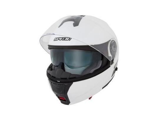 Picture of Spada Helmet Flip-up Cyclone Pearl White Size Medium 57-58 cm