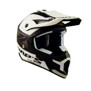 Black and White Swaps Motorcross Helmet