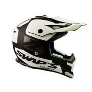 Swaps S818 Motocross Helmet - Matt Black and White