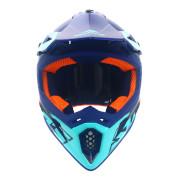 Swaps S818 Motocross Helmet - Matt White, Orange and Blue