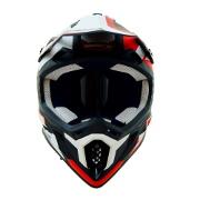 Swaps S818 Motocross Helmet - Matt Black, Red And White