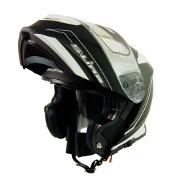 S-Line S550 Flip Up Full Face Helmet - Black and White