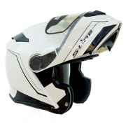 S-Line S550 Flip Up Full Face Helmet - White and Black