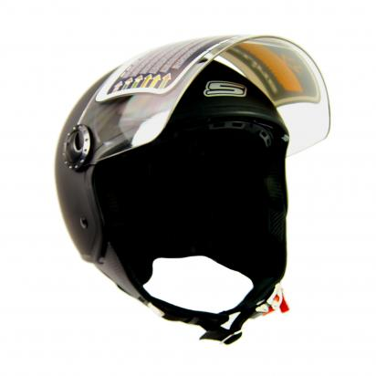 S-Line S706 Open Face Helmet - Double Visor - Small 55 to 56 - Matt Black