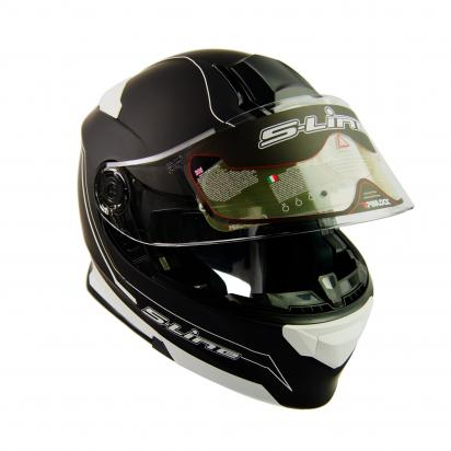 Picture of S-Line S550 Flip Up Full Face Helmet - X Large 59 to 60 - Black and White