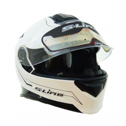 Picture of S-Line S550 Flip Up Full Face Helmet - Large 58 to 59 - White and Black