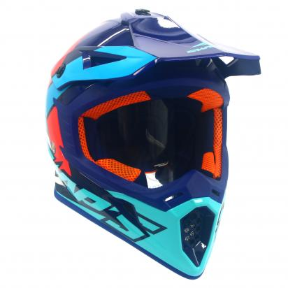 Picture of Swaps S818 Motocross Helmet - Medium 57cm to 58cm - Gloss Blue Red And White