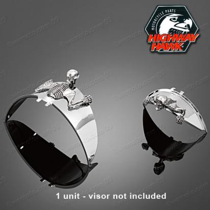 Picture of Skull Mascot  for Visor or Headlight Small 85mm   (1PC)