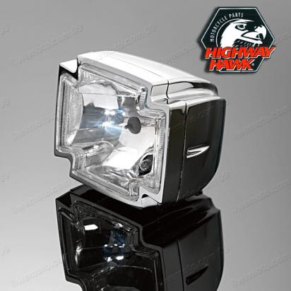 Picture of Gothic Chrome Complete Headlight 12v 55w/60w  with Pilot light