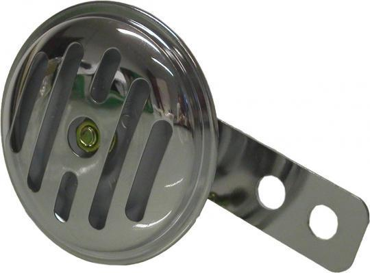 Picture of Horn 12 Volt Chrome - AC 65mm Diameter - 100dB (Works on Motorcycles Without Batteries)