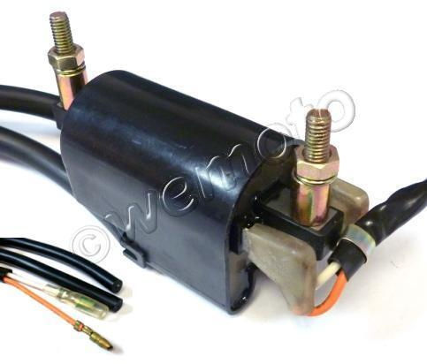 Picture of Ignition Coil 12v Points Twin Lead 2 Wires 90mm Centre To Centre Mounting Points