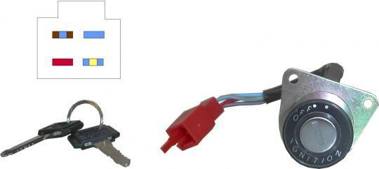Picture of Ignition Switch Yamaha SR125 1998 4 Wires