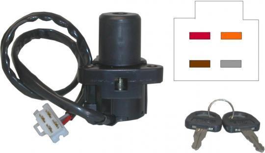 Picture of Ignition Switch Suzuki GSXR750F,G,GSXR1100G,H,J 4 Wires