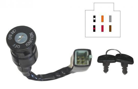 Picture of Ignition Switch Suzuki DR125,TSX 6 Wires