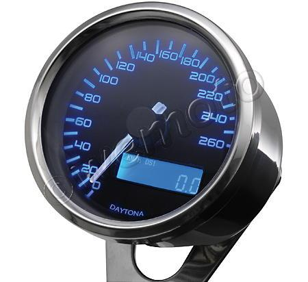 Picture of DAYTONA Digital Speedometer VELONA Round 60mm 260 km/h