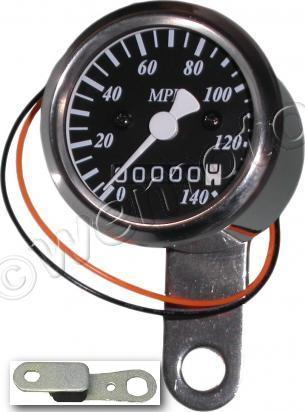 Picture of Speedo 48mm 2-1 MPH Black face with Stainless Body - with rubber mount