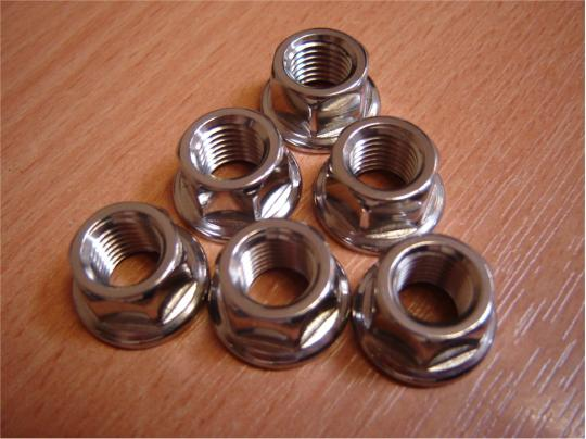 Picture of Yamaha TRX 850 96 Rear Sprocket Retainer Stainless Steel Nut Set
