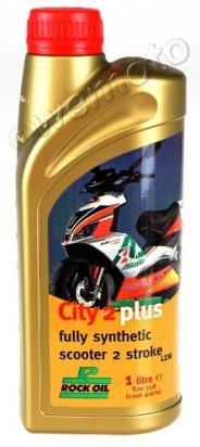 Picture of 2 Stroke Oil Rock Oil City 2 Plus For Scooters Fully Synthetic 1 Litre