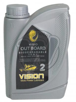 Picture of Vision Out Board TCW 3 Biodegradable 100% Synthetic - For 2 Stroke Out Board Motors - 1 Litre