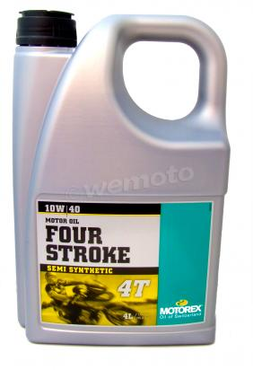 Picture of Motorex Four Stroke 4T Semi Synthetic 15w/50 - 4 litre