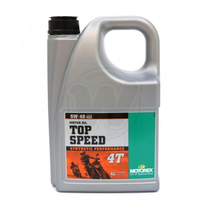 Picture of Motorex Top Speed 4T Synthetic 5w/40 - 4 Litres