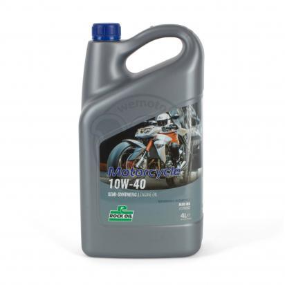 Picture of 4 Stroke Oil - Rock Oil Motorcycle 10W40 Semi Synthetic Oil 4 Litre