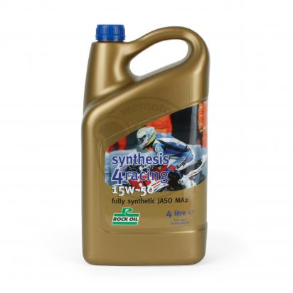 Picture of 4 Stroke Oil - Rock Oil Racing Synthesis 4 Fully Synthetic 15w50 4Litre