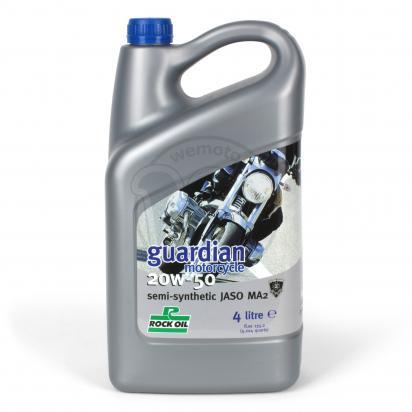 Picture of 4 Stroke Oil - Rock Oil Guardian 20W50 Semi-Synthetic 4 Litre