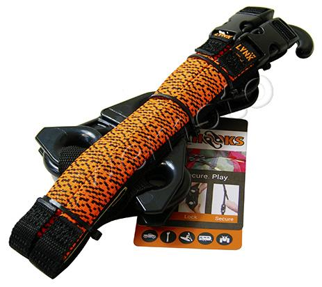 Picture of Lynx Hooks Adjustable Luggage Straps Pair Orange