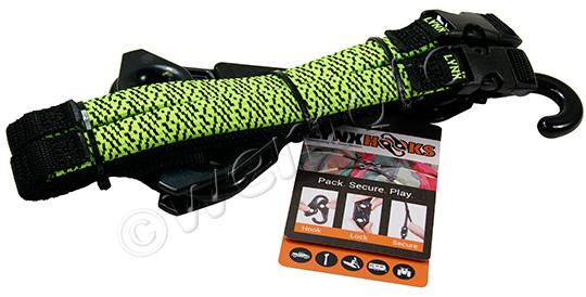 Picture of Lynx Hooks Adjustable Luggage Straps Pair Hi-Vis Green