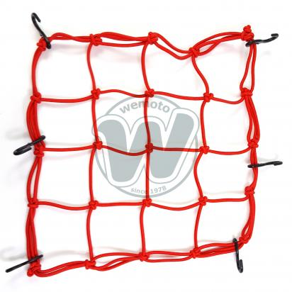 Picture of Cargo Net Motorcycle Red 300x300mm 6 Hooks