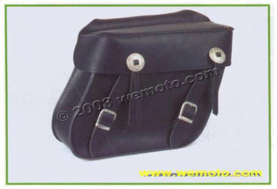 Picture of Saddle Bags - Pair Black Leather - Milwaukee II  (33x28x13cm)