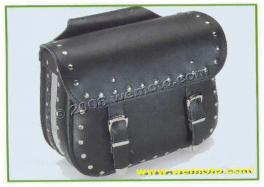 Picture of Saddle Bags - Pair Black Leather - Terminator (37x31x16cm)
