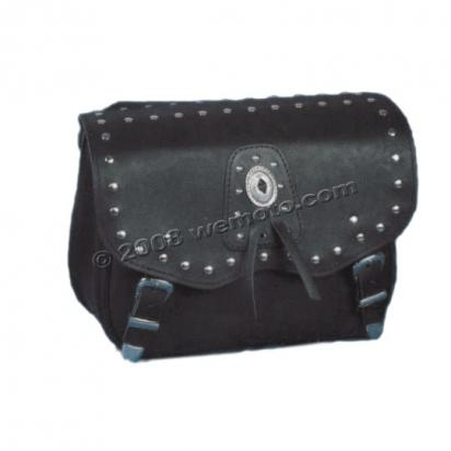 Picture of Saddle Bags - Pair Black Leather - California  (38x29x16cm)