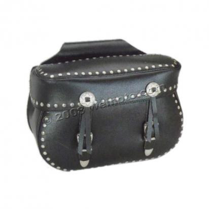 Picture of Saddle Bags - Pair Black Leather - Heritage (43x30x19cm)